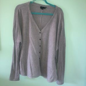 Out From Under Jojo Oversized Gray Top L